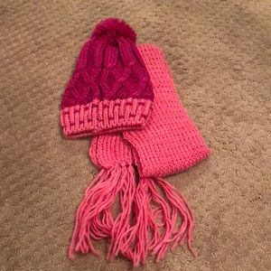 Accessories - NWT! Matching pink beanie and scarf set